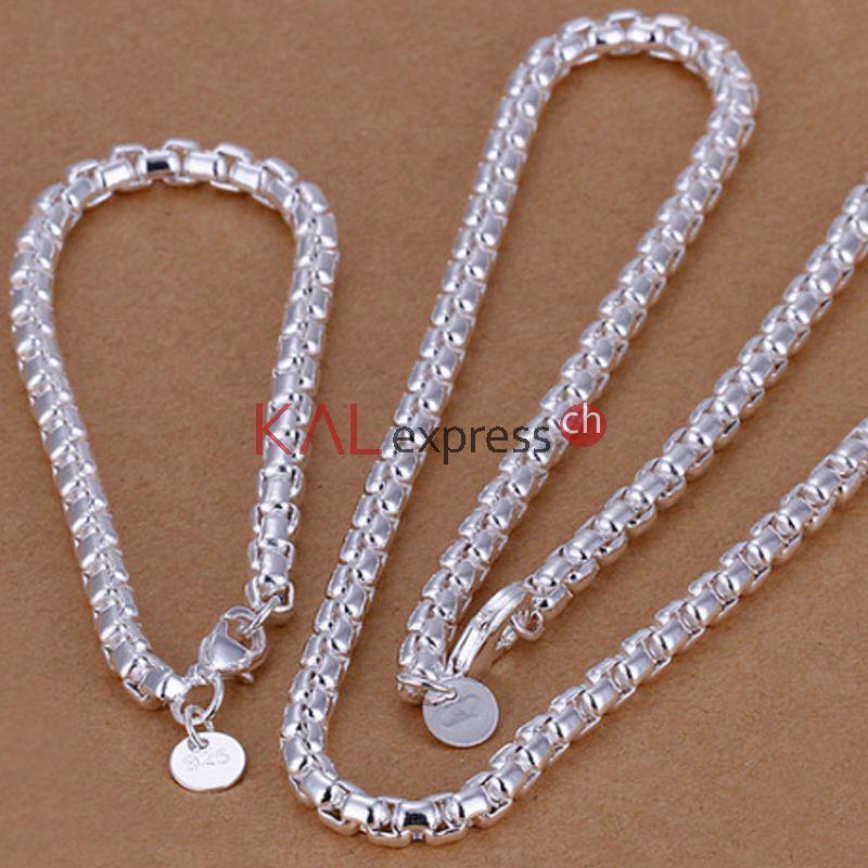 PANDORA Halsketten aus kostbarem Sterling-Silber, 18 Karat vergoldetem Sterling-Silber, massivem K-Gold und innovativem roséfarbenem PANDORA .