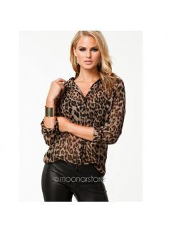 Sommer Fashion Casual Hemd Leopard