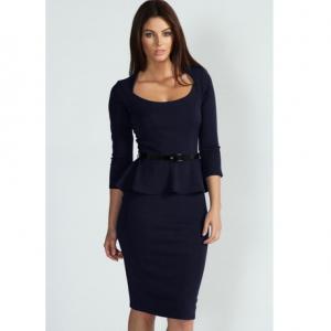 Midi Büro Damen Kleid