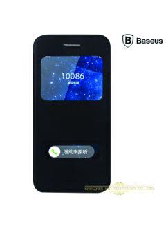 Flip-Cover Leder Baseus Schwarz für Phone 6