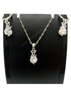 Halsketten-Band-Ohrringe Hochzeit Schmuck-Sets für Bräute