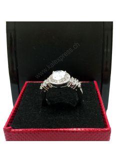 Sauberen weißen Topas Silber schmuck Ring