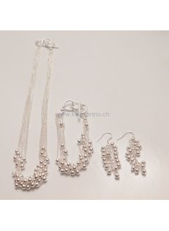 Schmuck-Set Six-Strands Glanz Perlen