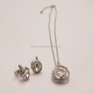 Mode Braut Silber Schmuck-Set
