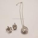 Silber Schmuck-Set Diamant kugel