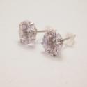 SILBER klein Diamant Ohrringe