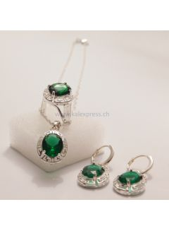 Elegante Kristall Silber Set